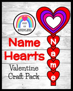 Valentine's Day Craft: Name Hearts