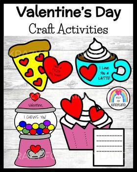 Valentine's Day Craft Pack: Cupcake, Pizza, Gumball Machine, Latte