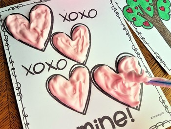 Valentine's Day Craft- Puffy Paint a Picture