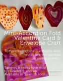 Valentine's Day Craft - SPANISH - Accordion Card & Envelop
