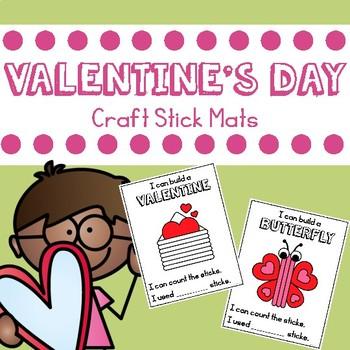 Valentine's Day Craft Stick Mats