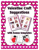 Valentine's Day Craft Suggestion Ebook ~ Including 5 Print