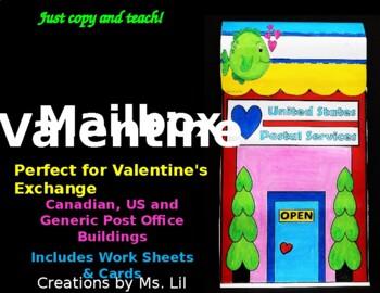 Valentine's Day Craft  ::  Valentines Day Mailbox  ::  Val