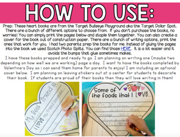 Valentine's Day Craft/ Writing Book