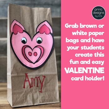 Valentine's Day Craft and Card Holder • PIG