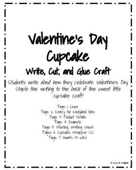 Valentine's Day Craft and Writing: Cupcake