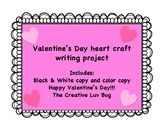 Valentine's Day Craft and Writing Project