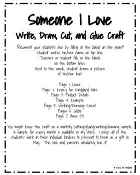 Valentine's Day Craft and Writing: Someone I Love