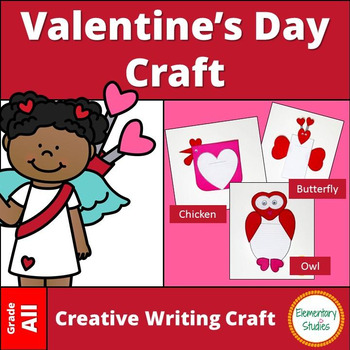 Valentine's Day Craft and Writing Template