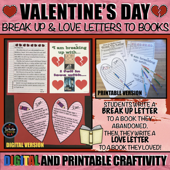 Valentine's Day Craftivity: Break Up and Love Letters to Books