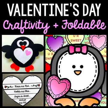 Valentine's Day - Craftivity - Interactive Notebook - Special Education