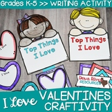 Valentine's Day Craftivity | Valentine's Day Writing  | February Bulletin Board