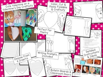 Valentine's Day Crafts, Activities and Writing Prompts