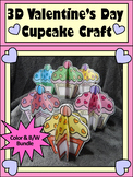 Valentine's Day Craft Activities: 3D Cupcakes Craft Activity Bundle - Color&BW