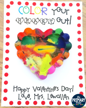 Valentine's Day Crayon tag with editable name