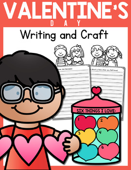 Valentine's Day Creative Writing and Paper Craft Activity (Jar of Hearts)