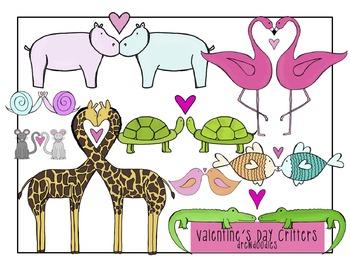 Valentine's Day Animals Clip Art