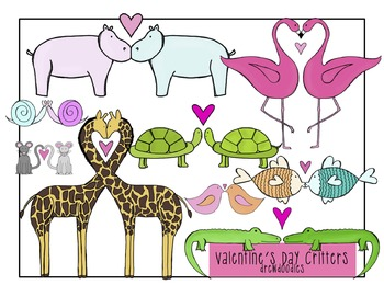 Valentine's Day Animals Clip Art