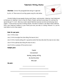Valentine's Day Cross-Curriculum Stations!
