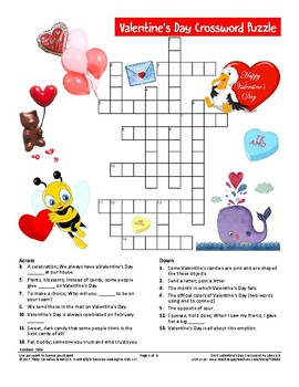 Valentine's Day Crossword Puzzle
