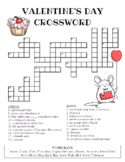 Valentine's Day Crossword Puzzle (Color and BW versions)