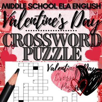 Valentine's Day Crossword Puzzle Activity!
