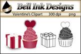Valentine's Day Cupcake Clipart