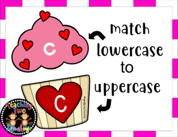 Valentine's Day Cupcake Letter Matching Activity