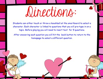 Valentine's Day Cupid Kooshball Game for SMARTboard