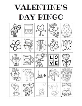 Valentine's Day Bingo Custom Printables
