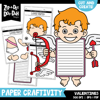 Valentine's Day Cut & Create Writing Craftivity {Zip-A-Dee-Doo-Dah Designs}