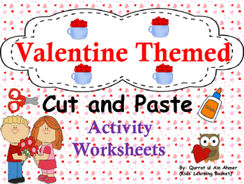 Valentine's Day Cut and Paste Activity Worksheets: