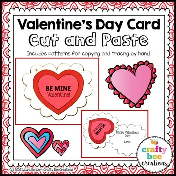 Valentine's Day Cut and Paste Card