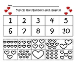 Valentine's Day Cut and Paste Match Up the Hearts!
