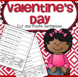Valentine's Day Cut and Paste Sentences Fluency FREE