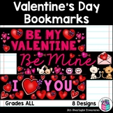 Valentine's Day Cut n' Color Bookmarks: Black and White AND Full Color