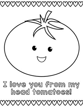 Valentineu0027s Day {Cute} Puns Coloring Pages