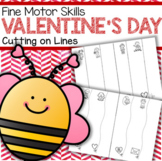 Valentine's Day Cutting and Tracing Lines Fine Motor Skills FREE