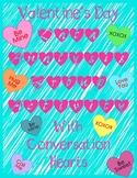 Conversation Heart Math Valentine's Day Data Graphing Mean