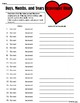 Valentine's Day Day/Date Scavenger Hunt