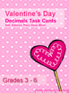 Valentine's Day Decimal Task Card Printables: Place Value, Add/Subtract, & More