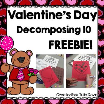 Valentine's Day Decomposing 10 & Craft FREEBIE