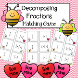 Valentine's Day Decomposing Fractions Math Game