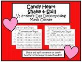 Valentine's Day Decomposing Kindergarten Math Center- Cand