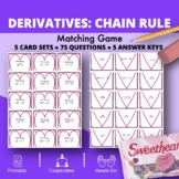 Valentine's Day: Derivatives Chain Rule Matching Game
