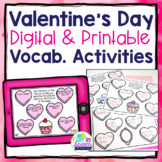 Valentine's Day Describing Worksheets for Speech Therapy - Vocabulary Activity