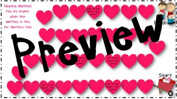 Valentine's Day Describing and Collecting Valentines: Describe Vocabulary