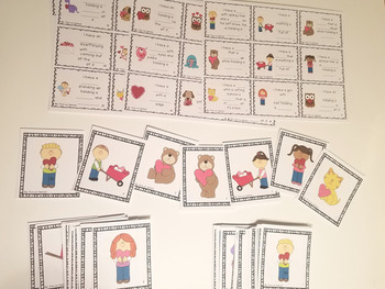 Valentine's Day Describing/Listening Game for Speech Therapy