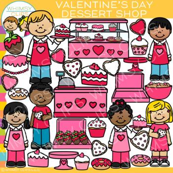 Valentine's Day Dessert Shop Clip Art {Valentine Clip Art}