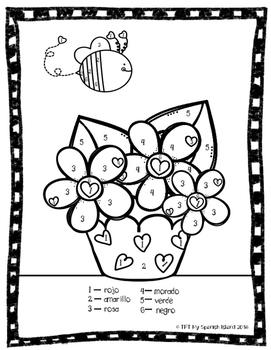 Valentine's Day, Día de San Valentín coloring, flash cards and poster
